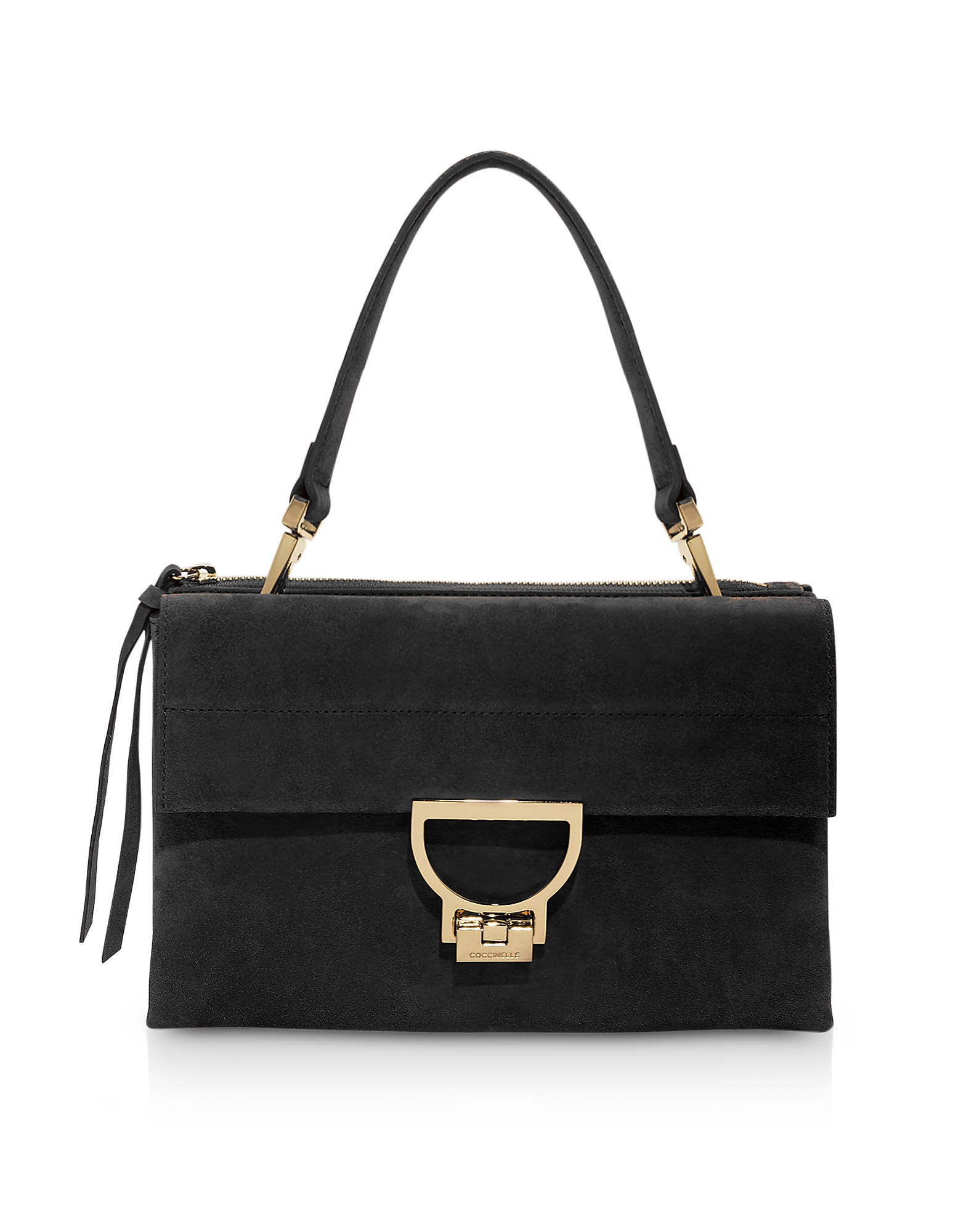 Coccinelle Designer Handbags, Arlettis Medium Suede Shoulder Bag w/Strap