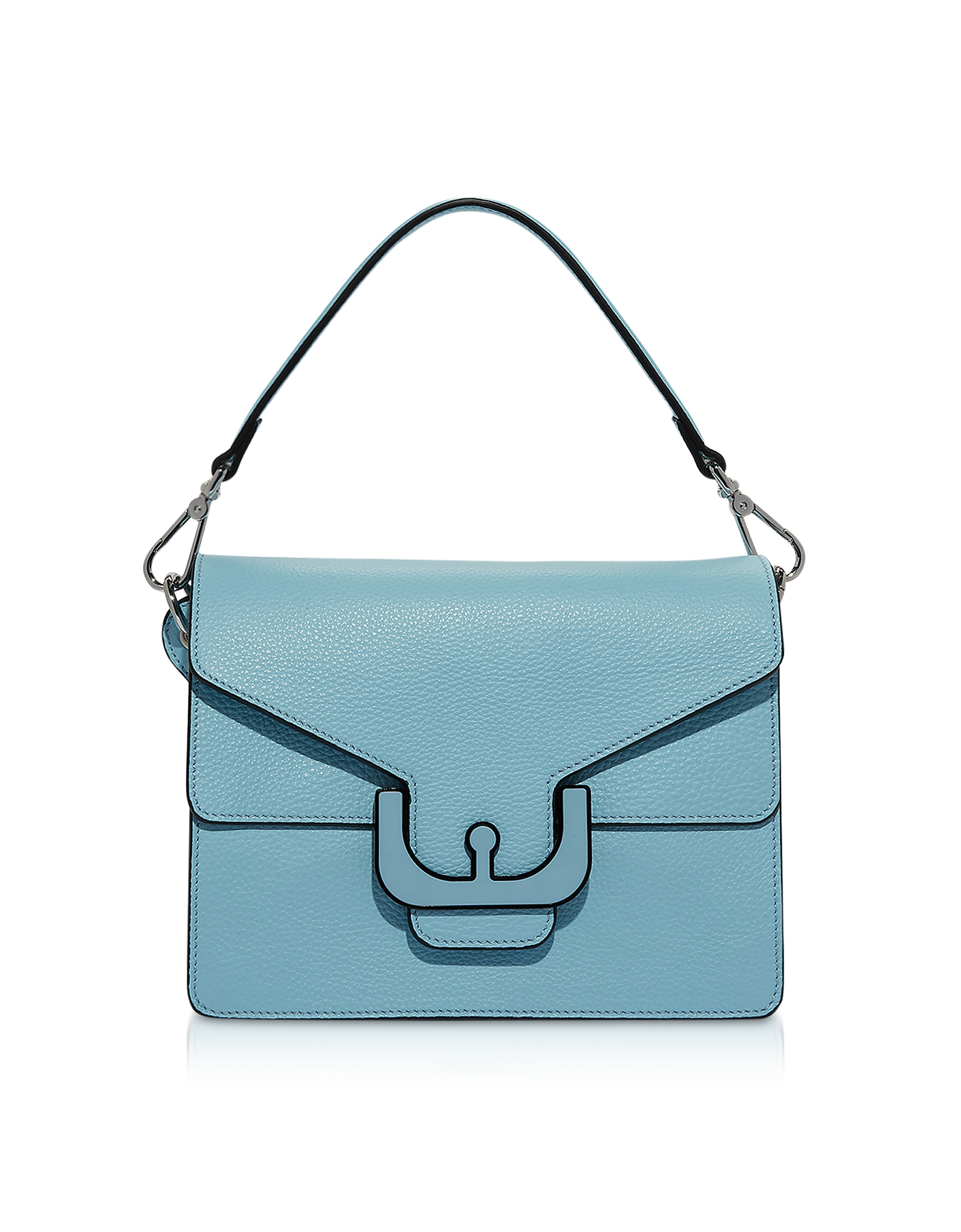 Ambrine Graphic Leather Shoulder Bag