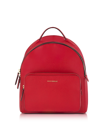Coccinelle - Clementine Poppy Red Leather Backpack
