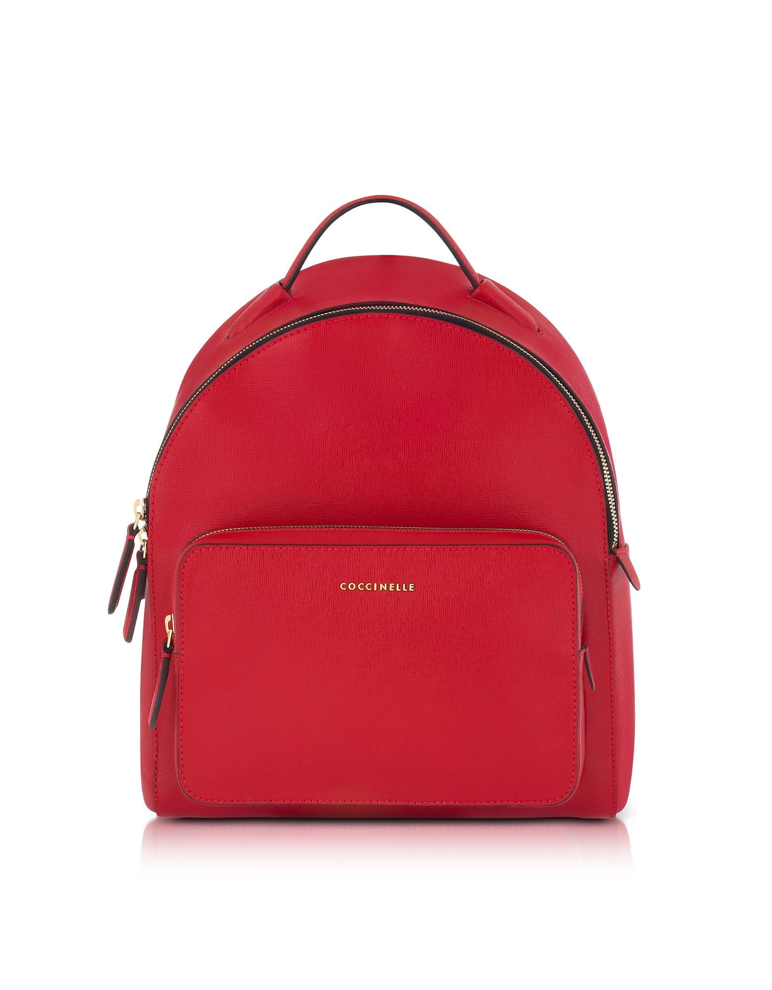 Фото Clementine - Ярко Красный Кожаный Рюкзак. Купить с доставкой