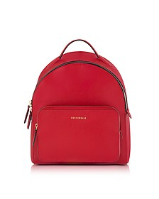 Clementine Poppy Red Leather Backpack - Coccinelle