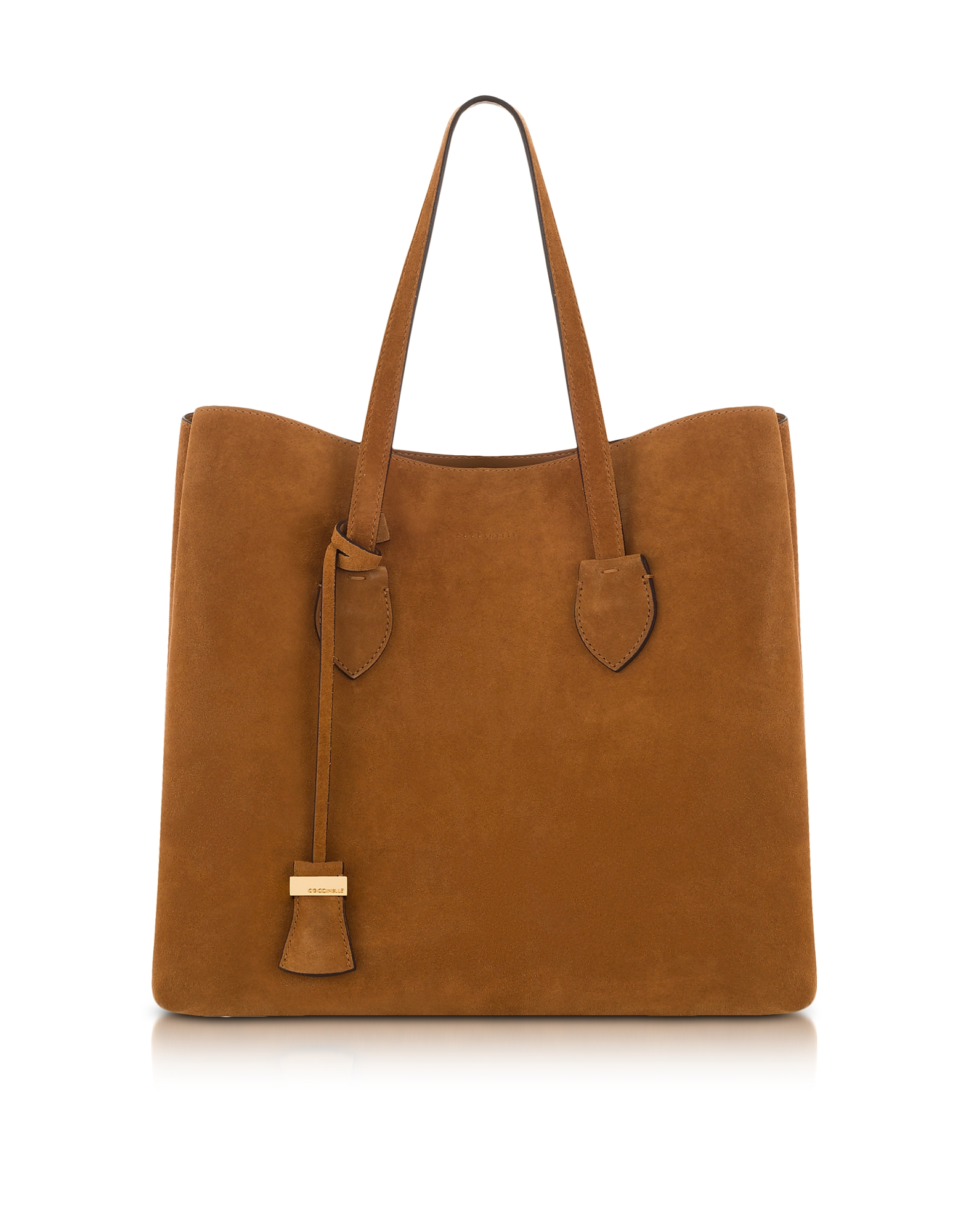 Coccinelle Handbags, Celene Brown Suede Tote Bag