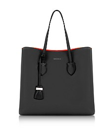 Celene Black and Gerbera Red Leather Tote Bag - Coccinelle