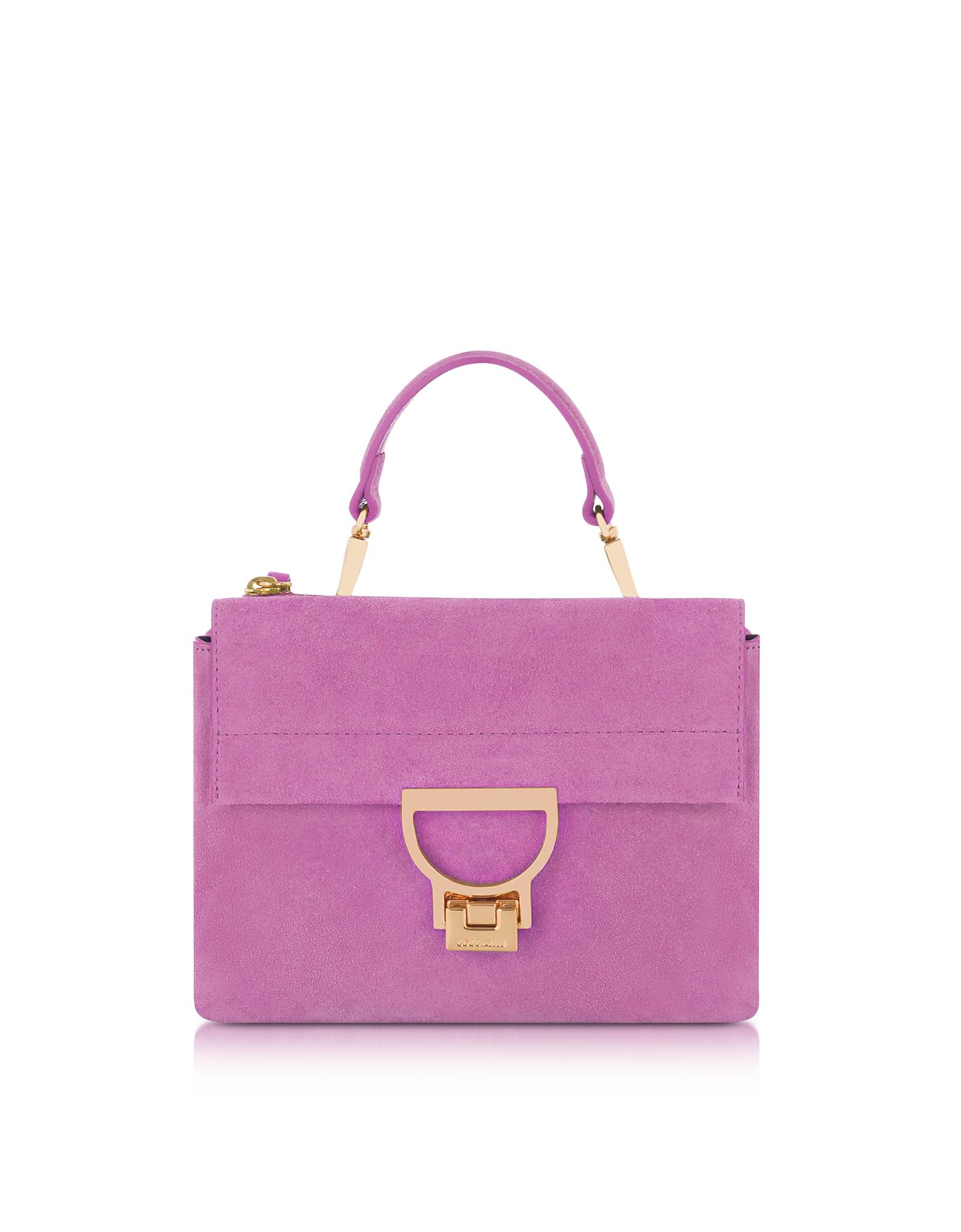 Coccinelle Handbags, Suede Arlettis Mini Bag w/Shoulder Strap