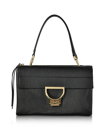 Coccinelle - Black Pebbled Leather Arlettis Shoulder Bag