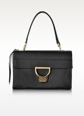 Black Pebbled Leather Arlettis Shoulder Bag - Coccinelle