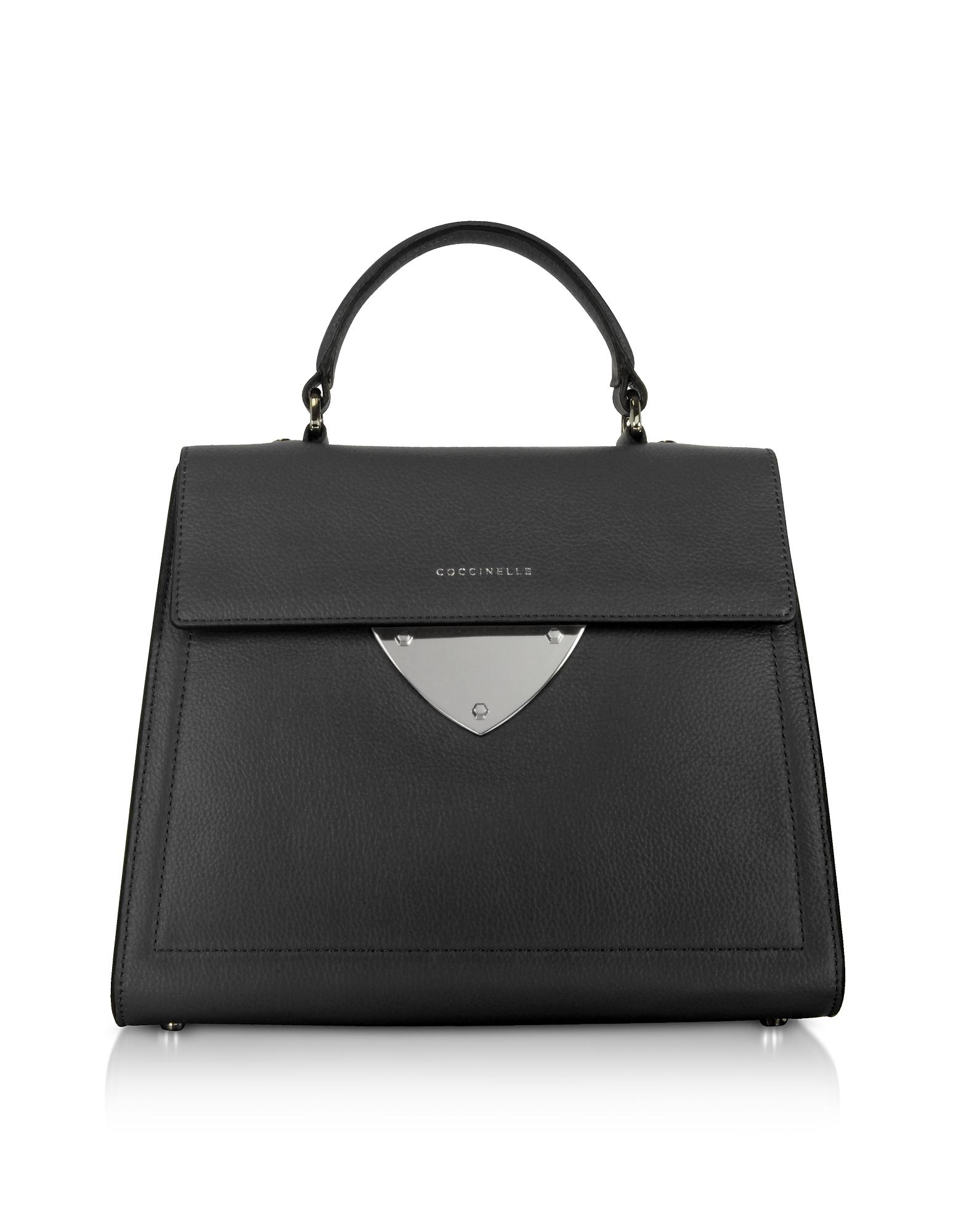 Image of Coccinelle Designer Handbags, B14 Leather Satchel Bag