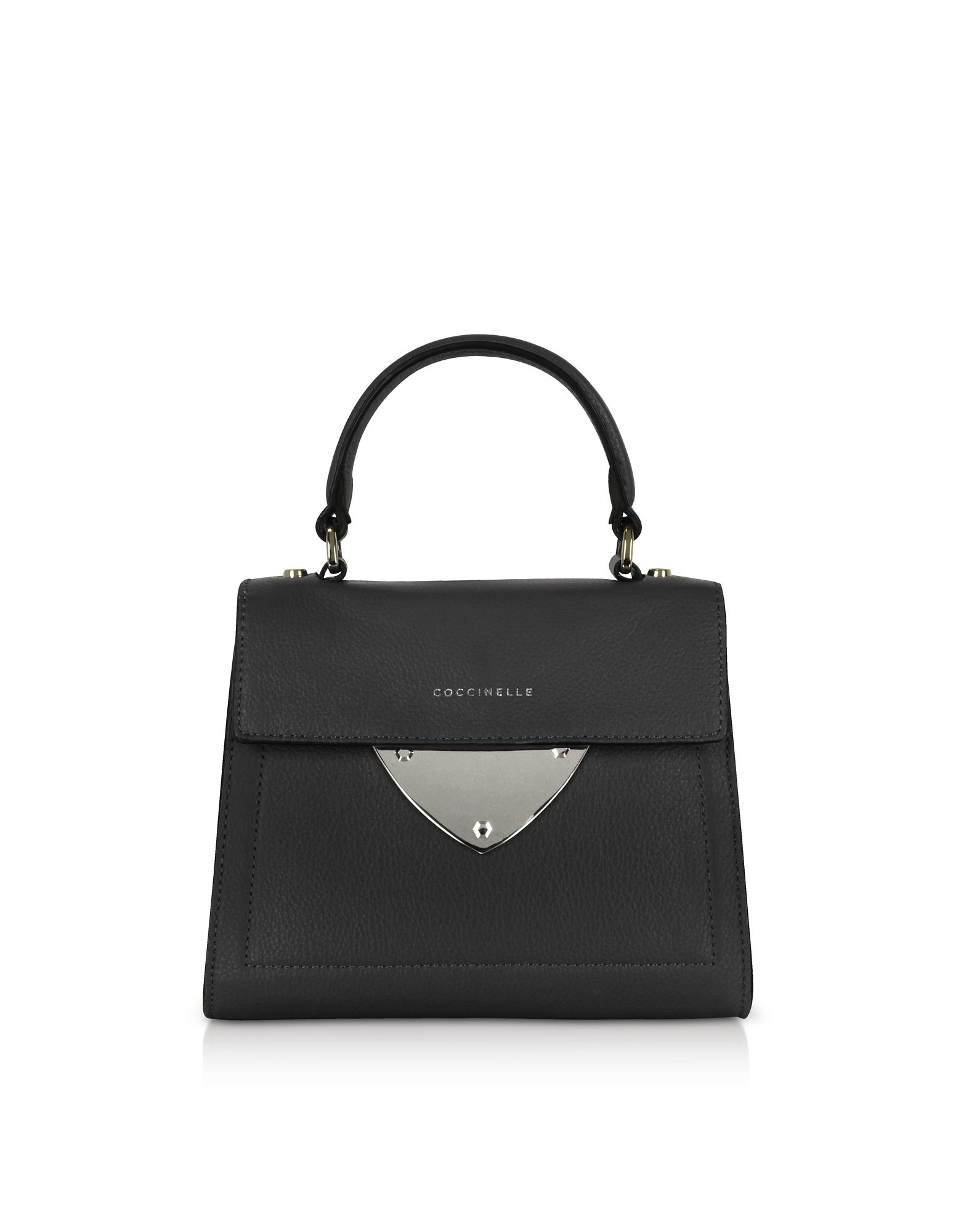 Image of Coccinelle Designer Handbags, B14 Mini Leather Satchel Bag