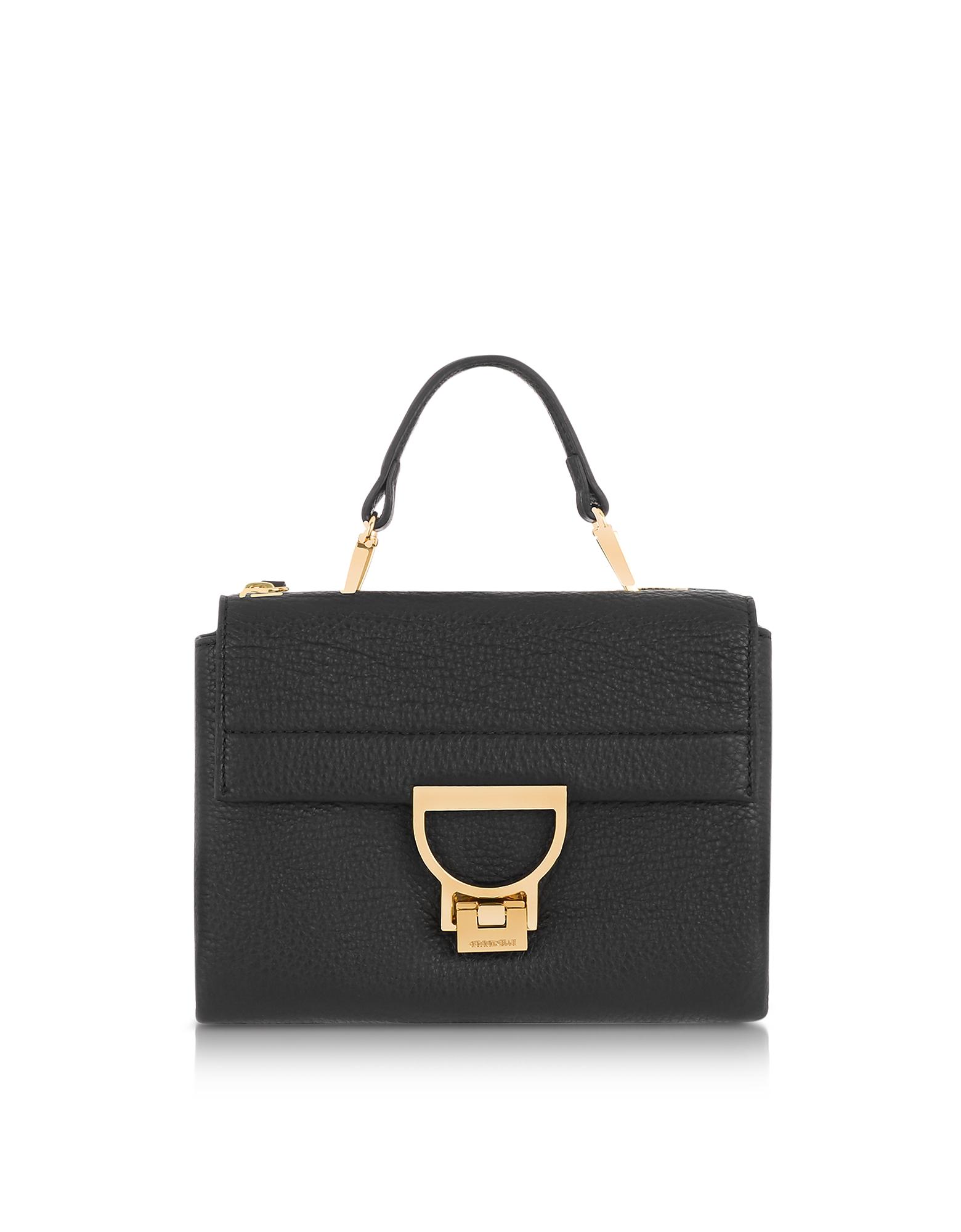 Image of Coccinelle Designer Handbags, Arlettis Mini Leather Bag with Shoulder Strap