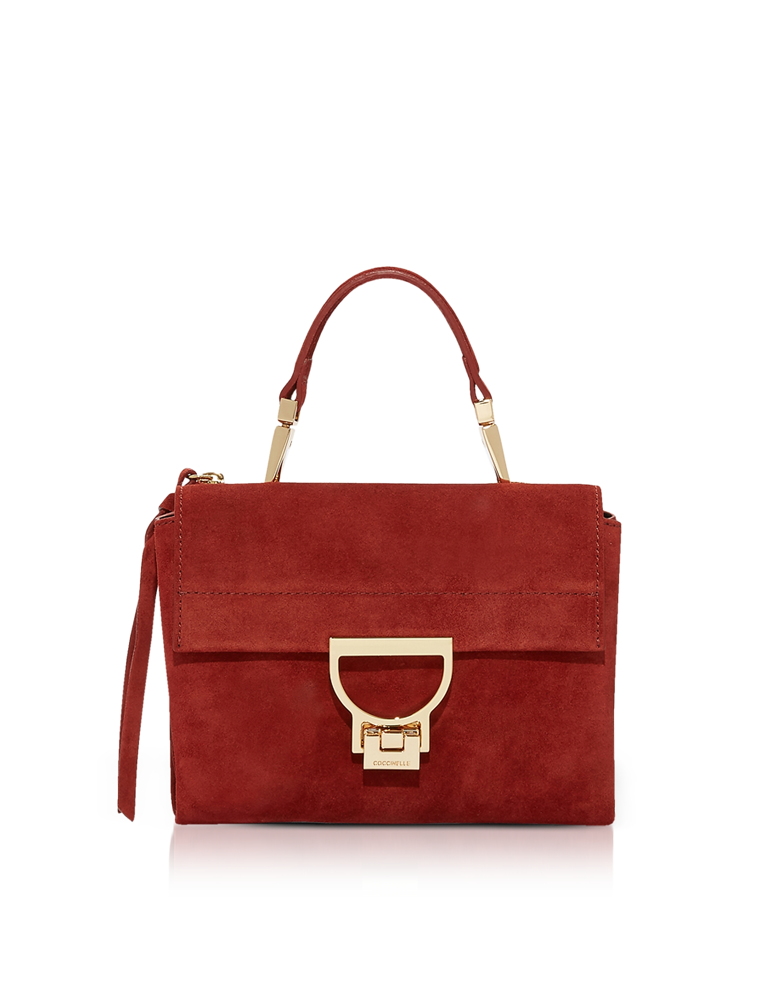 COCCINELLE ARLETTIS MINI SUEDE BAG WITH SHOULDER STRAP