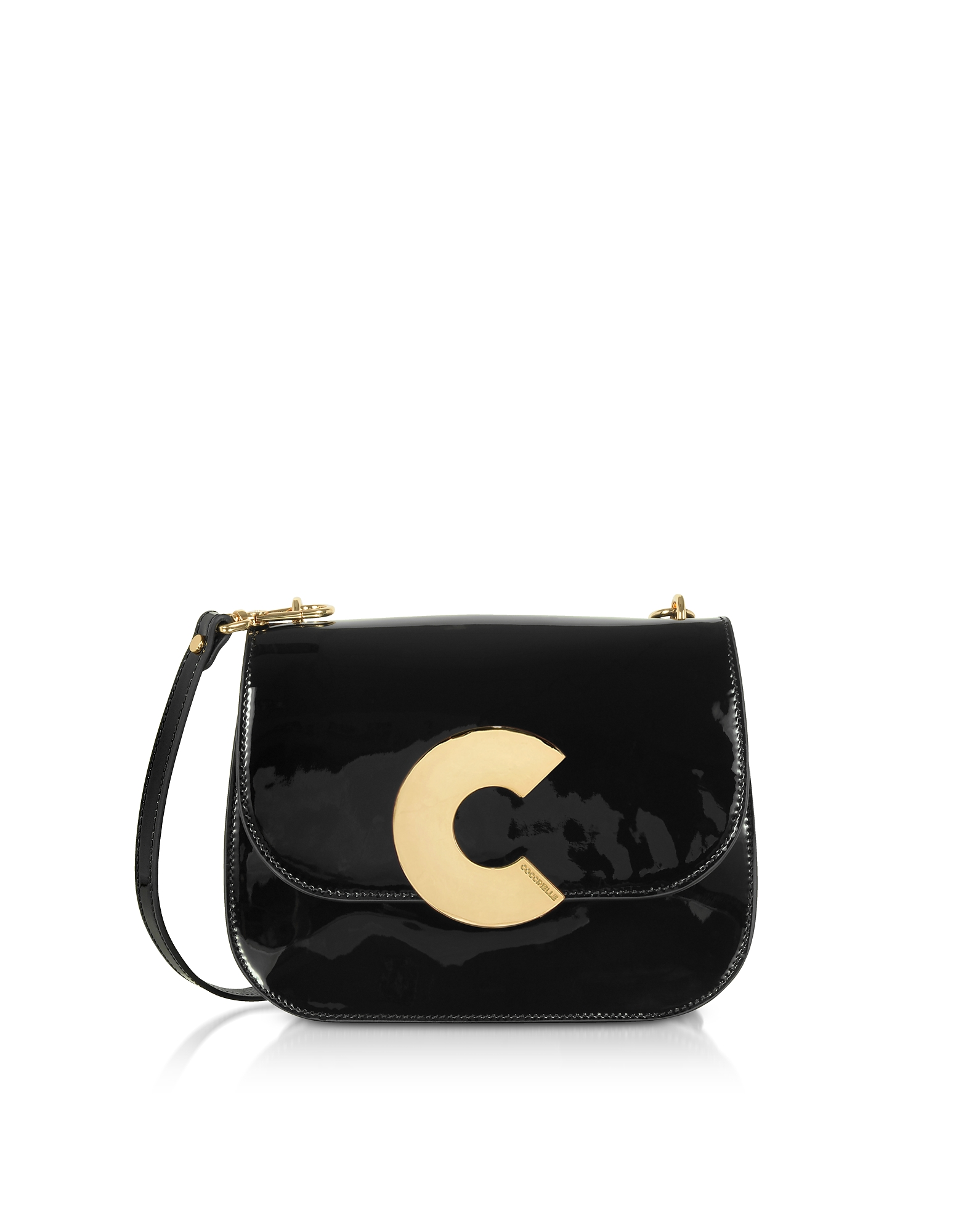 Coccinelle Handbags, Craquante Rock Medium Patent Leather Shoulder Bag