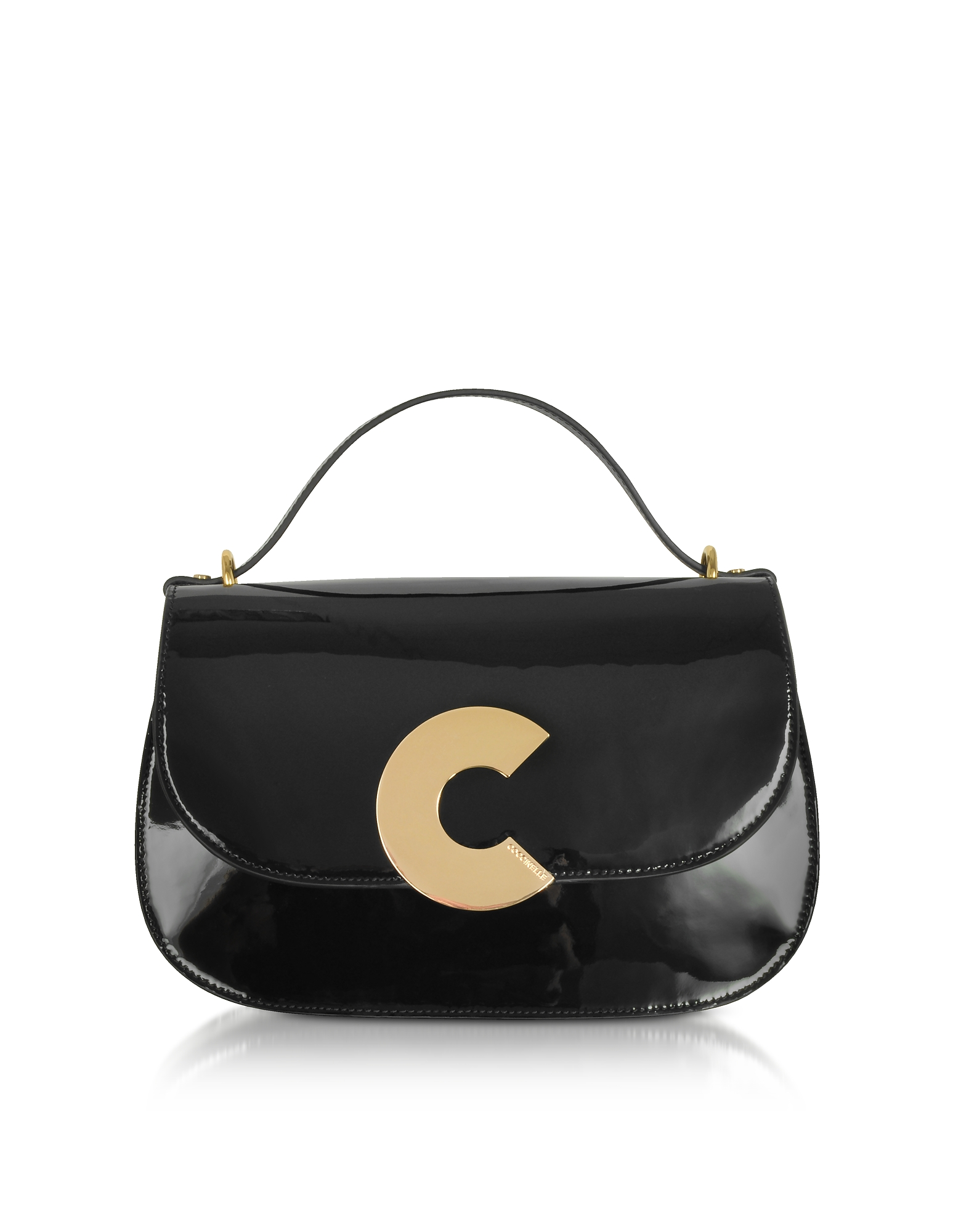 Coccinelle Handbags, Craquante Patent Maxi Leather Satchel Bag