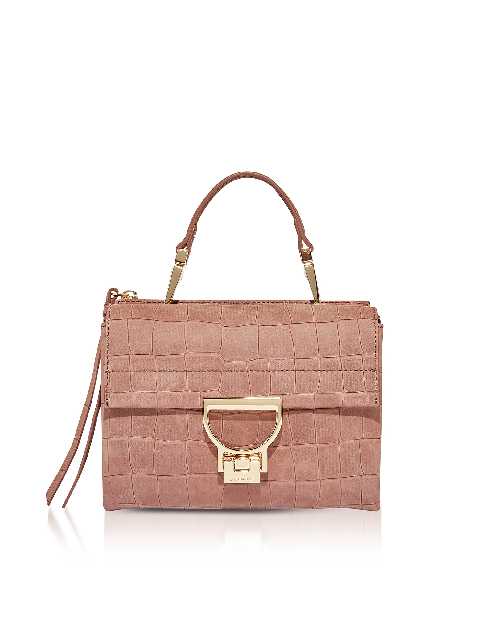 Coccinelle Handbags, Arlettis Croco Embossed Nubuck Mini Shoulder Bag