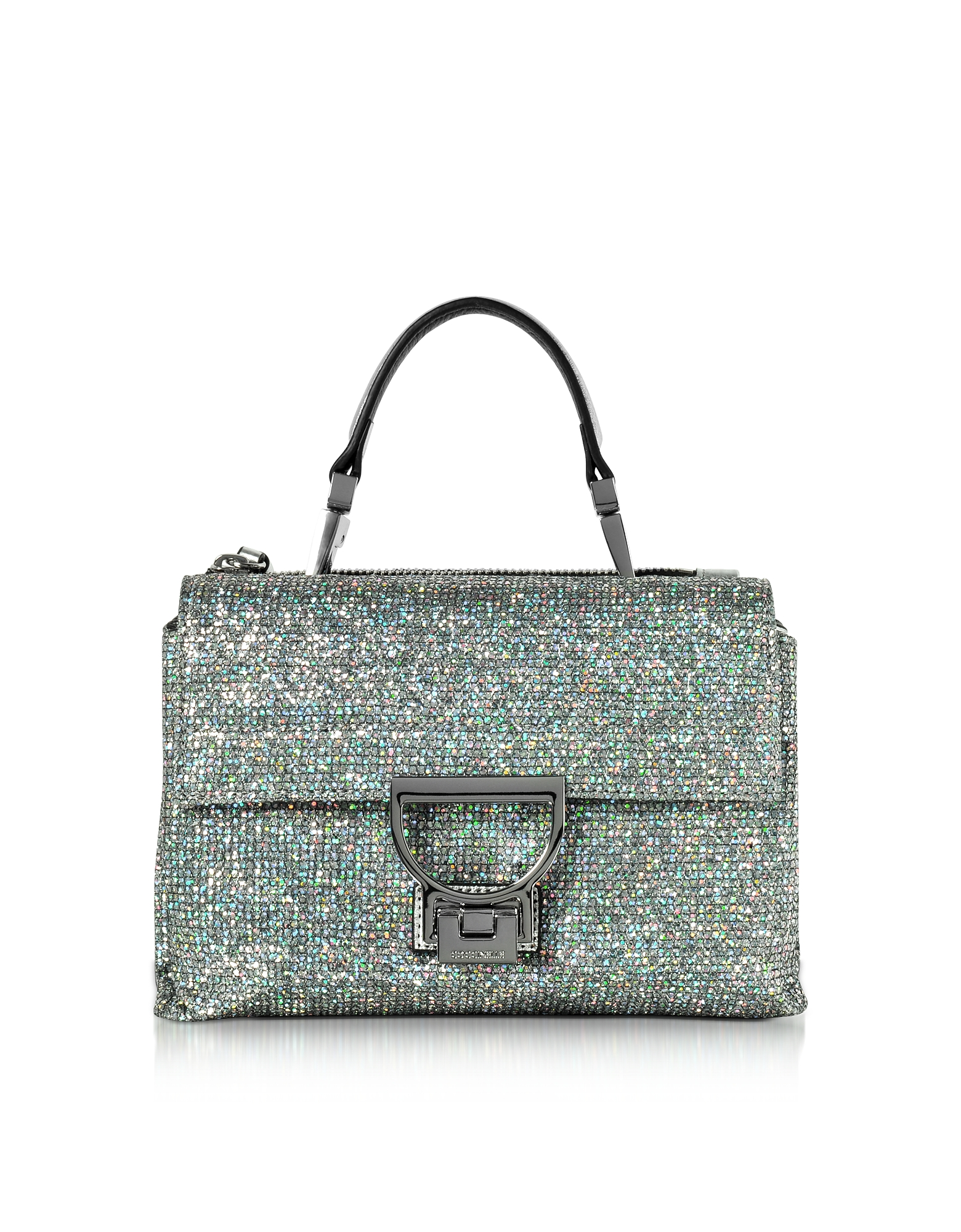 Arlettis Silver Glitter Mini Shoulder Bag