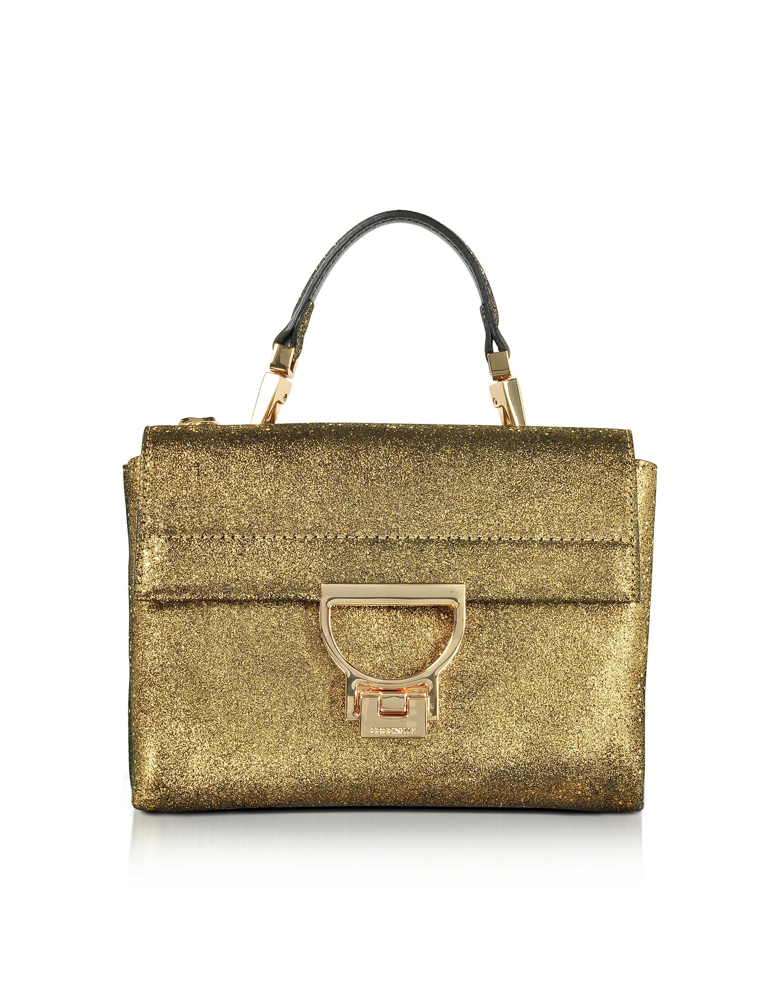 Coccinelle Handbags, Arlettis Metallic Suede Mini Shoulder Bag