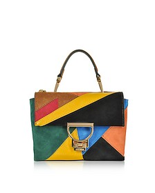 Arlettis Patch Leather and Suede Shoulder Bag - Coccinelle