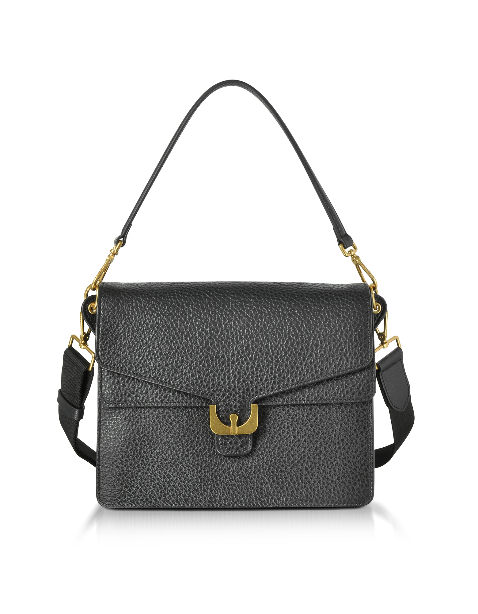 Coccinelle Handbags, Ambrine Black Bubble Leather Small Satchel Bag