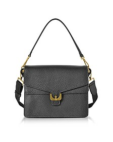 Ambrine Black Bubble Leather Small Satchel Bag - Coccinelle