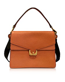 Ambrine Calendula Bubble Leather Satchel Bag - Coccinelle
