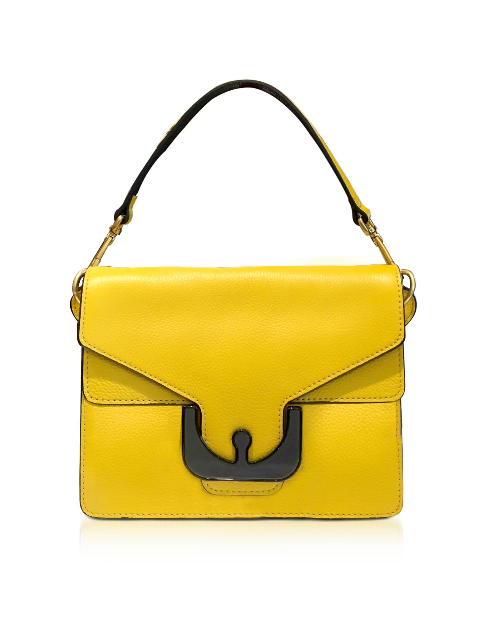 Coccinelle Handbags, Ambrine Graphic Sunflower Leather Satchel Bag