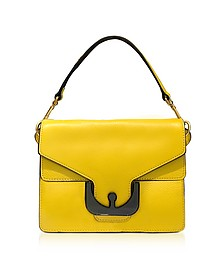 Ambrine Graphic Sunflower Leather Satchel Bag - Coccinelle