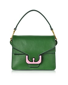 Ambrine Graphic Imperial Green Leather Satchel Bag - Coccinelle