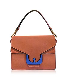 Ambrine Graphic Calendula Leather Satchel Bag - Coccinelle