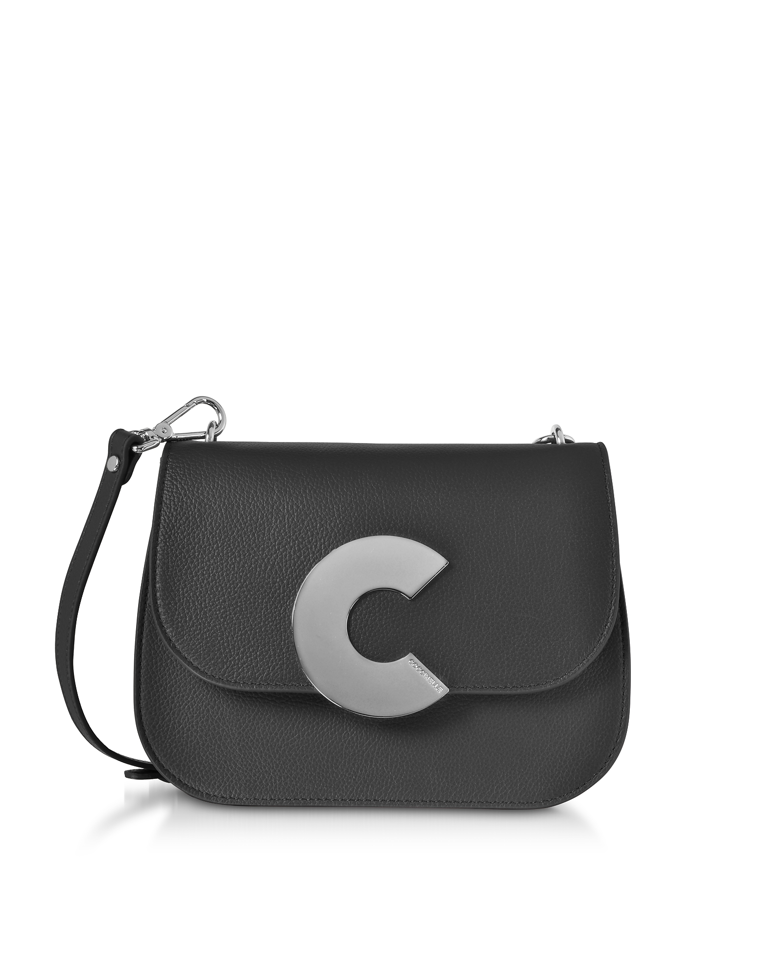 Craquante Grained Leather Medium Crossbody Bag