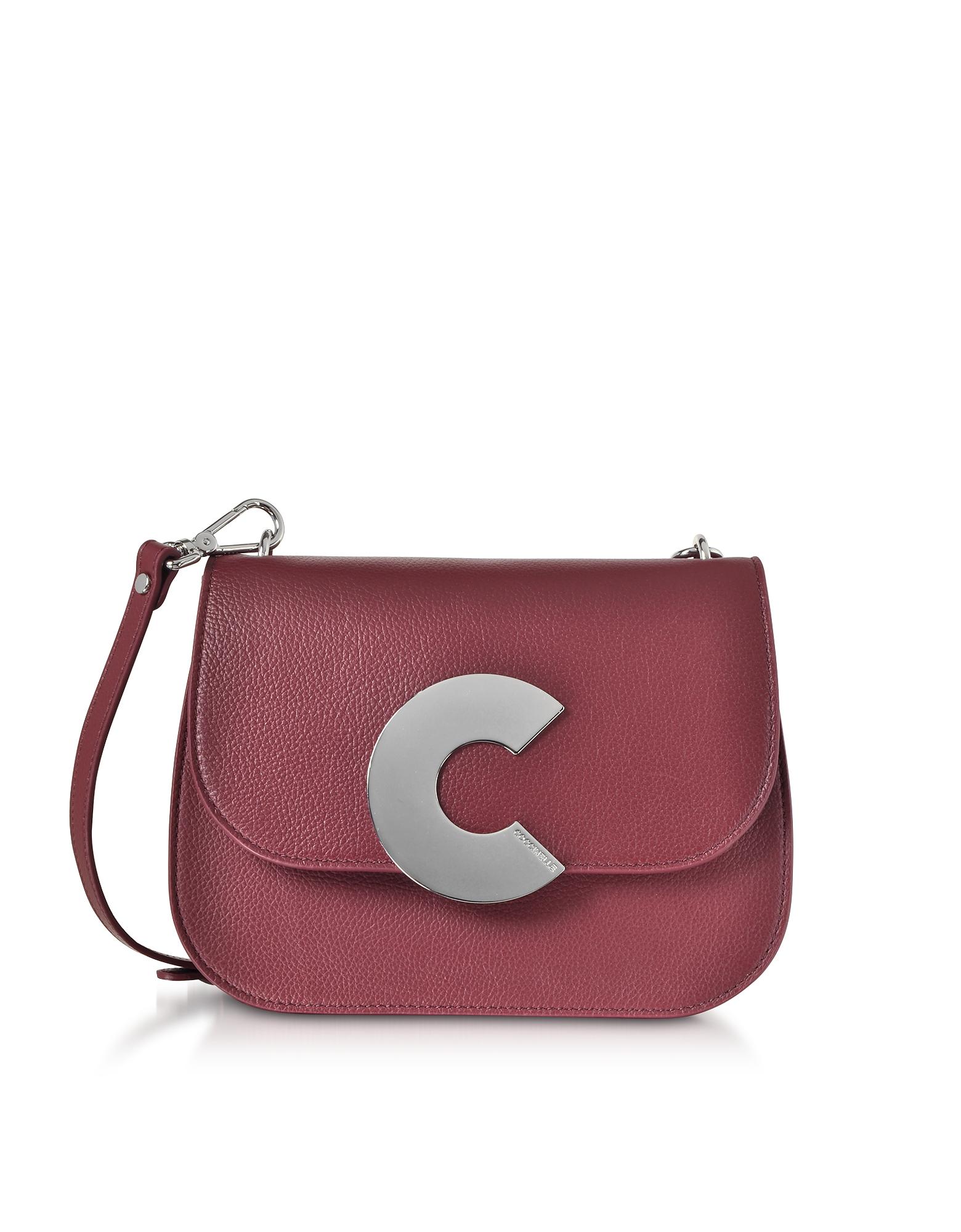 Coccinelle Handbags, Craquante Grained Leather Medium Crossbody Bag