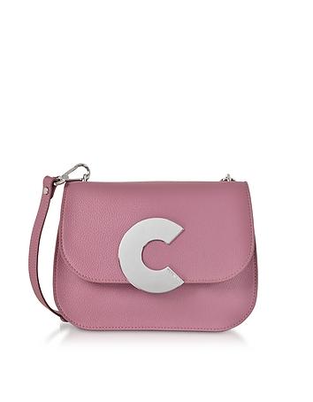 Craquante Grained Leather Medium Crossbody Bag