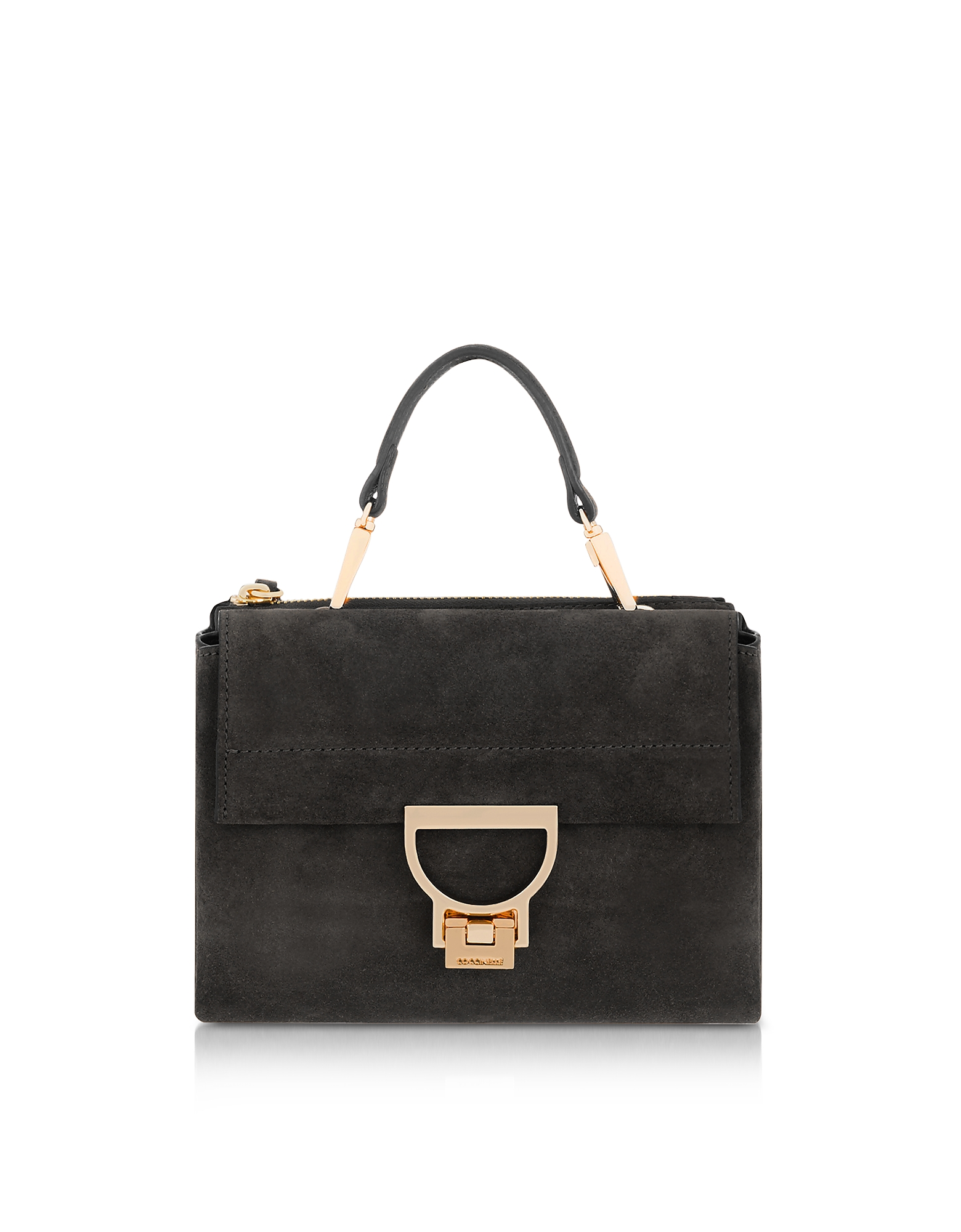 Arlettis Suede Top Handle Crossbody Bag
