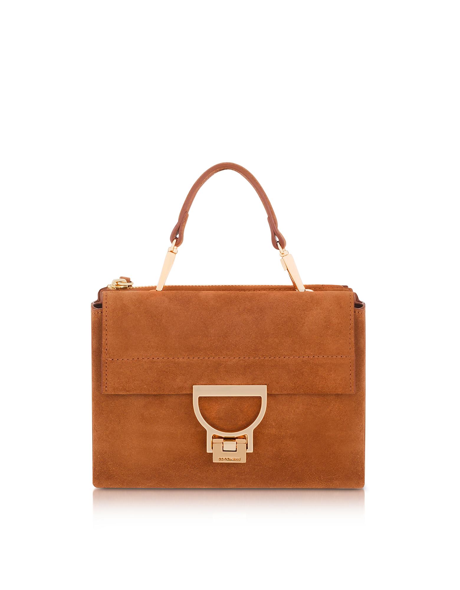 Vintage Handbags, Purses, Bags *New* Coccinelle Designer Handbags Arlettis Suede Top Handle Crossbody Bag $226.80 AT vintagedancer.com