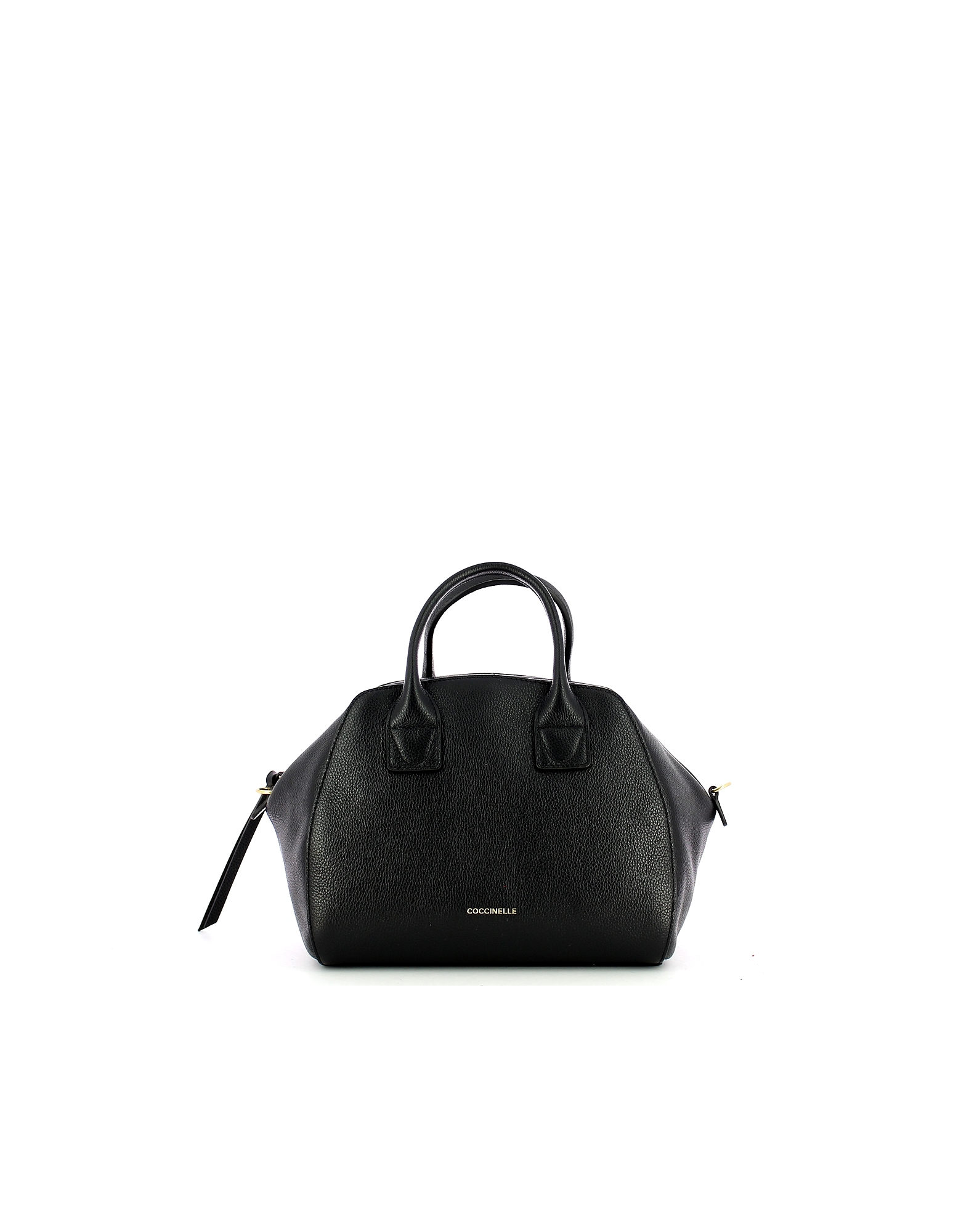 Coccinelle Designer Handbags, Black Concrete Journal Satchel Bag