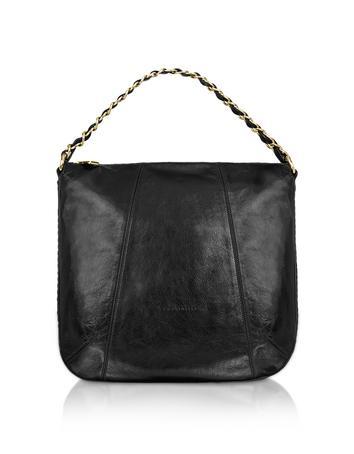 Foto der Handtasche Coccinelle Greta - Grosse Hobotasche aus schwarzem Leder