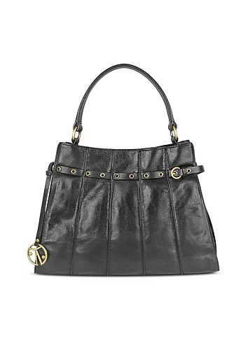 Coccinelle Grommet Strap Calf Leather Tote Bag