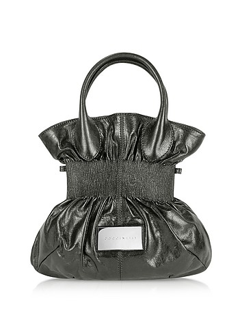 Coccinelle Gunmetal Calf Leather Bucket Handbag :  stylish italian handbag women designer accessory