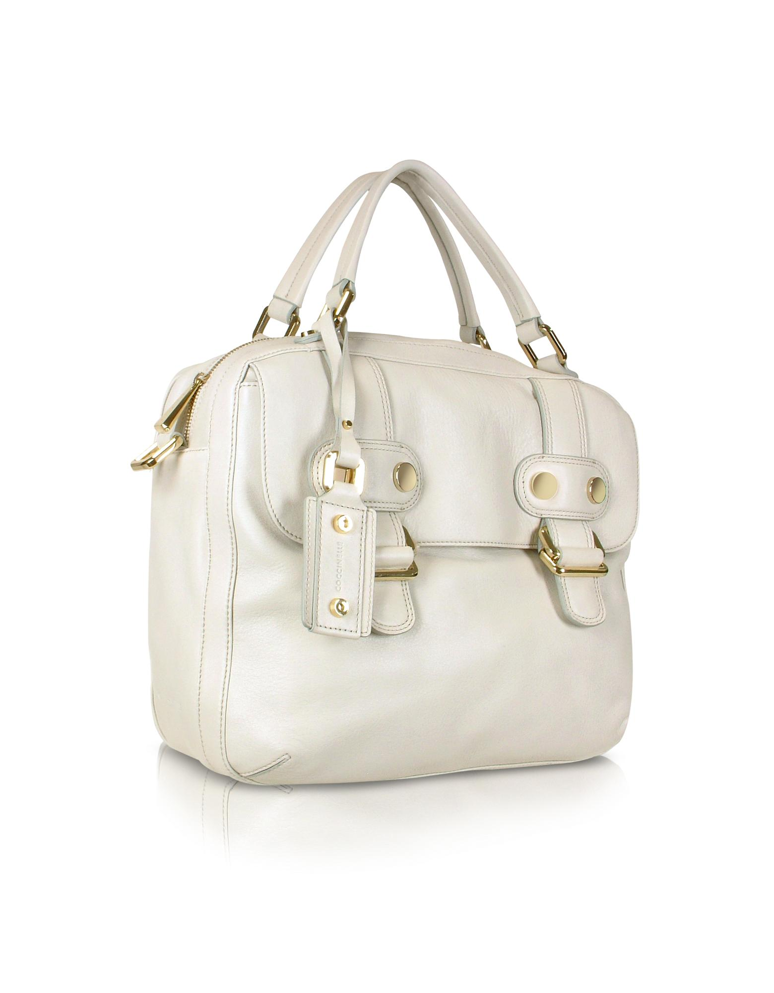 Coccinelle  Downtown - Front Pocket Calfskin Tote Bag