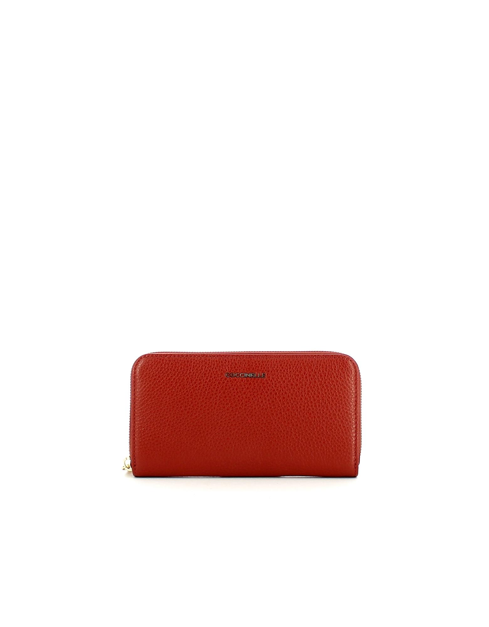 Coccinelle Designer Wallets, Women's Red Wallet