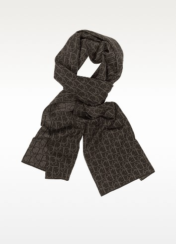 Woven Signature Wool Scarf - Christian Dior
