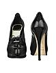 Corset Black Patent Leather Platform Pump Shoes - Christian Dior