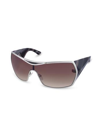Christian Dior Dior Gaucho 2 - Logoed Temple Metal Shield Sunglasses