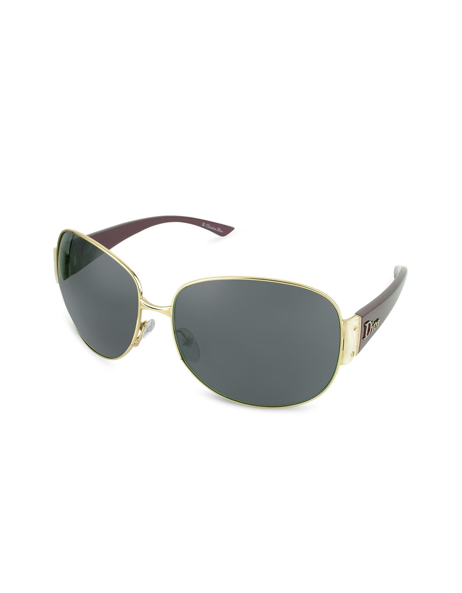 Christian Dior Dior Mixt 1 - Cannage Plaque Round Metal Sunglasses