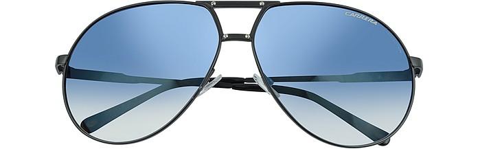 Turbo - Black Metal Aviator Sunglasses - Carrera