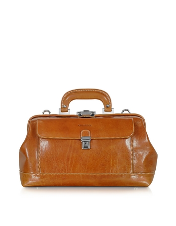 Small Cognac Leather Doctor Bag