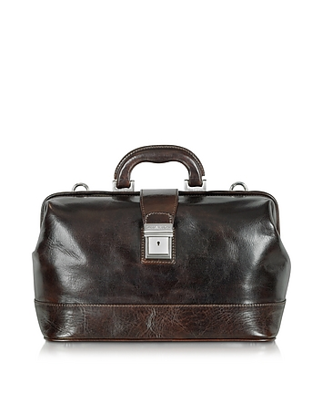 Medium Dark Brown Leather Doctor Bag