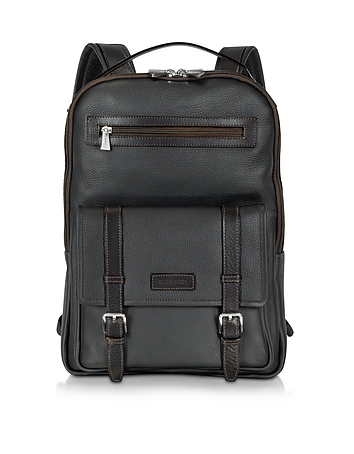 Black and Brown Leather Backpack
