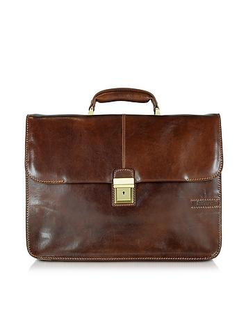 Chiarugi - Large Brown Leather Briefcase