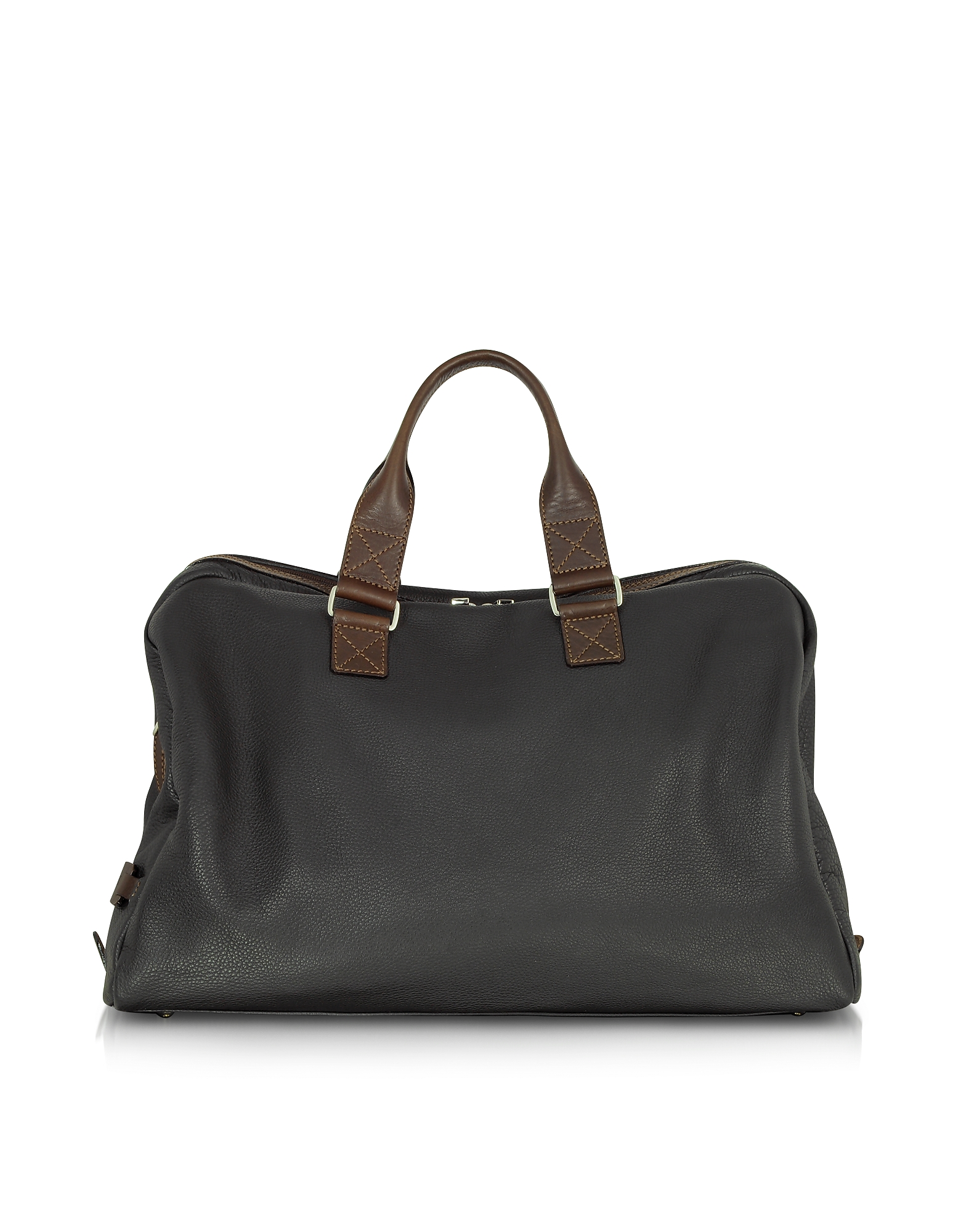 Black and Brown Genuine Leather Weekender