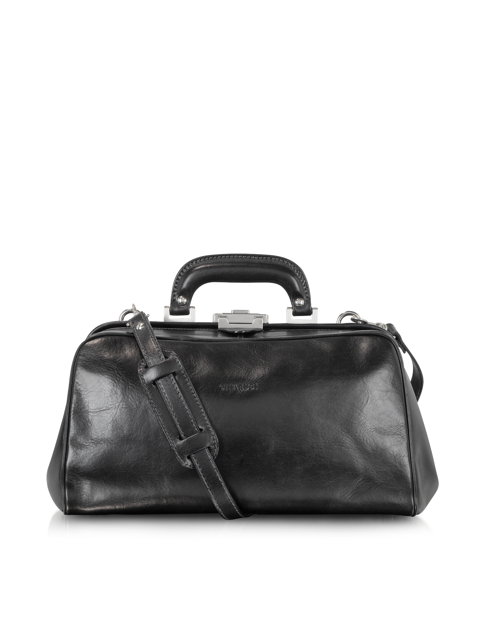 Image of Black Leather Handmade Professional Doctor Bag