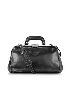 Black Leather Handmade Professional Doctor Bag  - Chiarugi